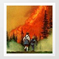 forest fire (2012) Art Print