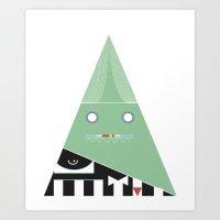 Elegantes Dreieck Art Print