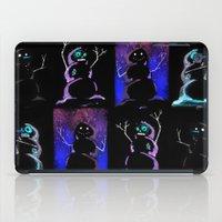 4 Dark Snowmen iPad Case