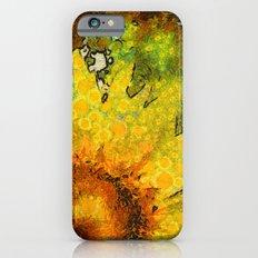van Gogh styled sunflowers version 3 iPhone 6 Slim Case