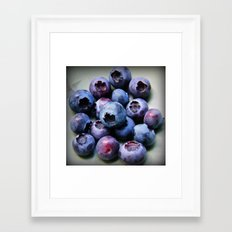 Blueberries - You Know You Want One Framed Art Print
