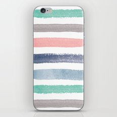 Colored Watercolor Brush Strokes iPhone & iPod Skin