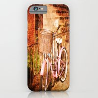 iPhone & iPod Case featuring pink bike by 2b2dornot2b