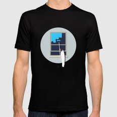 Happiness SMALL Mens Fitted Tee Black