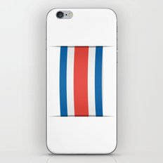 Flag of Costa Rica. The slit in the paper with shadows. iPhone & iPod Skin