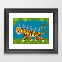 Tiger Transportation Framed Art Print