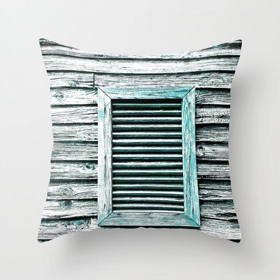 Single Window Throw Pillow
