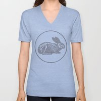 In which a rabbits anatomy is observable  Unisex V-Neck