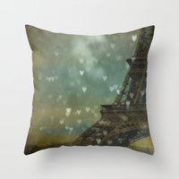 I Left My Heart In Paris Throw Pillow