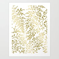 Foliage Gold Art Print