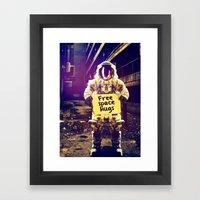 Space Hugs Framed Art Print