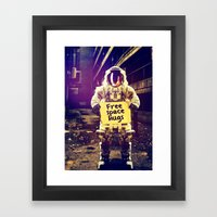 Space hugs Framed Art Print