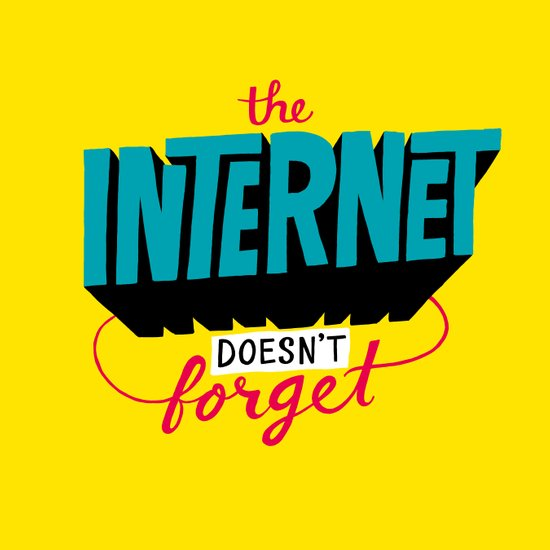 The Internet Doesn't Forget Art Print