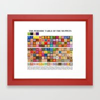 The Periodic Table Of Th… Framed Art Print