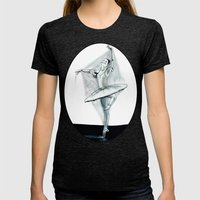 Dancing Stiff Womens Fitted Tee Tri-Black SMALL