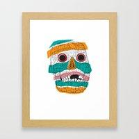 Stripy Skull  Framed Art Print