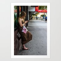 Leaning, Waiting Art Print