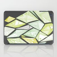 Green Diamonds iPad Case
