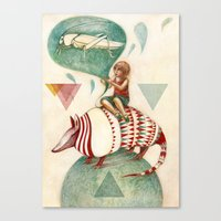 Armadillo's Dream Canvas Print