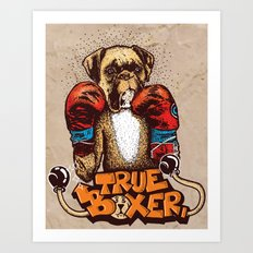 true boxer Art Print