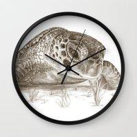 A Green Sea Turtle :: Earthtones Wall Clock