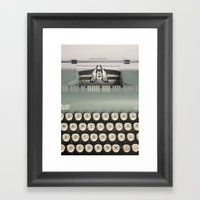 American Typewriter Framed Art Print