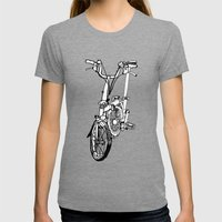 Brompton Womens Fitted Tee Tri-Grey SMALL