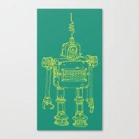 Yellow Robot Canvas Print