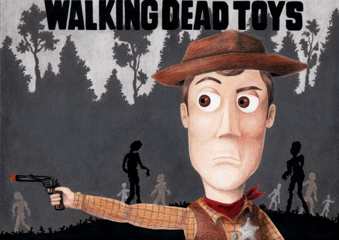 The Walking Dead Toy Story (Woody Grimes) Art Print By Missy Corey | Society6