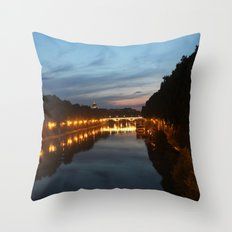 Rome evening Throw Pillow