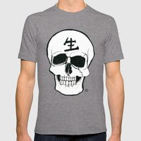 Skull - Live Mens Fitted Tee Tri-Grey SMALL