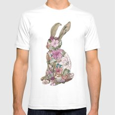 Spring Bunny White Mens Fitted Tee SMALL