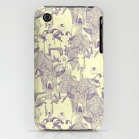 iPhone 3Gs & iPhone 3G Cases featuring just goats purple cream by Sharon Turner