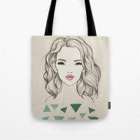 Green girl Tote Bag