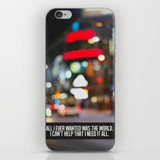 marina + the diamonds - world. iPhone & iPod Skin