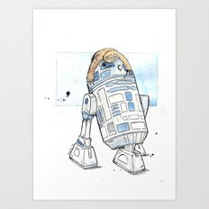 R2 and His Baby Sloth Art Print