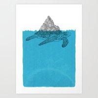 turtle Art Prints featuring Turtle by David Penela