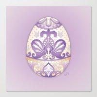 Lavender Egg Canvas Print