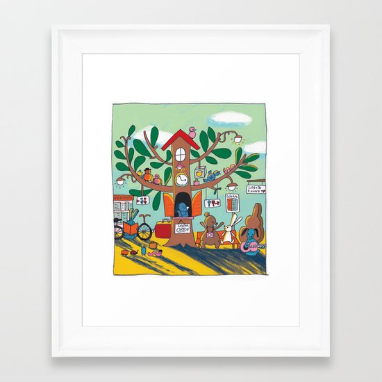 going somewhere! Framed Art Print