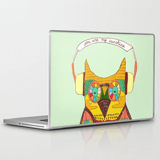 The Owl rustic song Laptop & iPad Skin