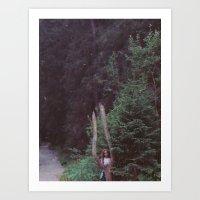 GIRL AND THE TREE Art Print