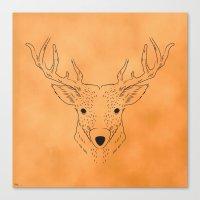 Deer Lines Canvas Print
