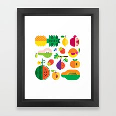 Fruit Medley White Framed Art Print