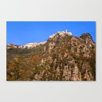 French Mountain Village … Canvas Print