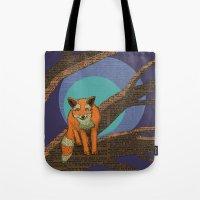 Fox At Night Tote Bag