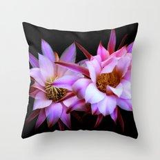 Purple cactus blossom Throw Pillow