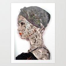 butterfly woman Art Print
