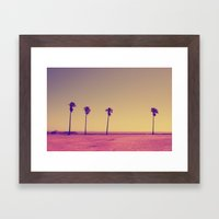 Four Palms In Paradise Framed Art Print