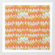 Colorful Waves Art Print