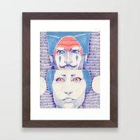 I Mustache You A Questio… Framed Art Print